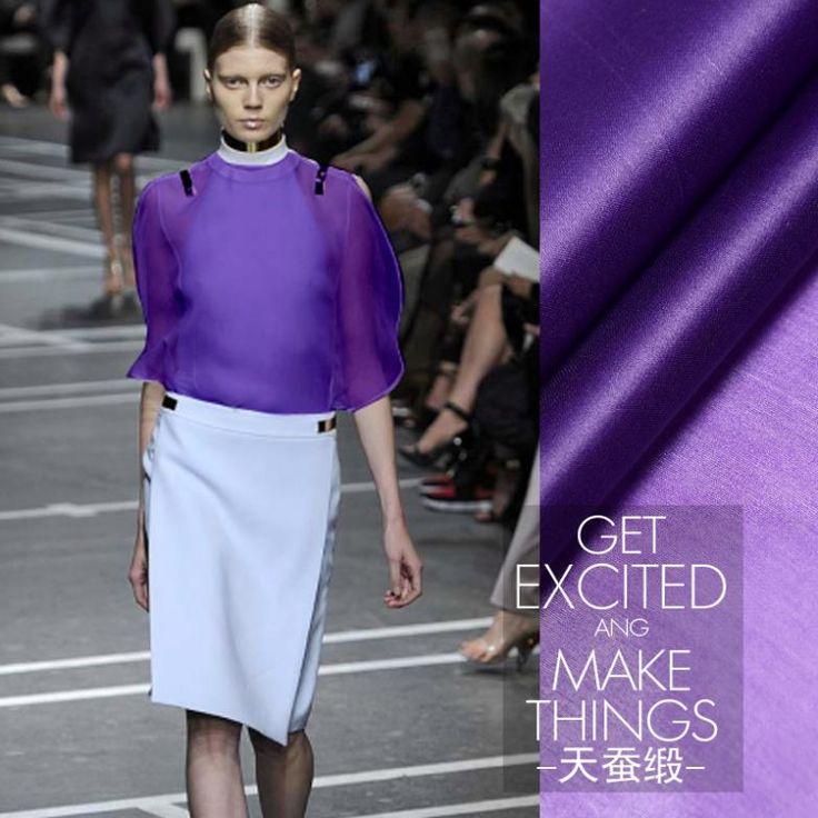 Винтажный верхний фиолетовый цвет от кутюр 100% шёлк ткань для платье ткань атлас ( 1 метр )