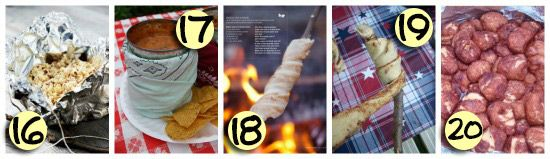 101 Camping Tips and Ideas -cinnamon rolls on a stick