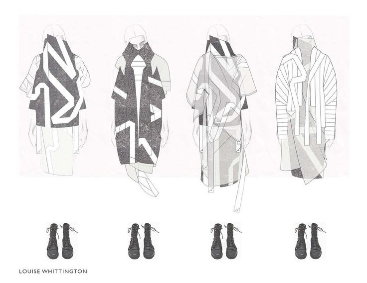 Fashion Sketchbook - fashion illustrations; line up; fashion design portfolio // Louise Whittington