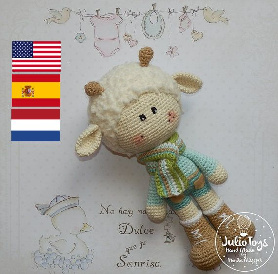 This is a crochet pattern PDF - NOT the actual finished doll at the photos!  The pattern is available in ENGLISH (US terminology), SPANISH or in DUTCH  Once purchased you´ll receive your pattern as attachment in your Conversation´s section on Etsy in a few hours maximum (depends on time zone)  The pattern include tutorial how to do spring lamp.  Material necessary - see the last picture in gallery   I do not give permission for the commercial use of my patterns and products derived from…