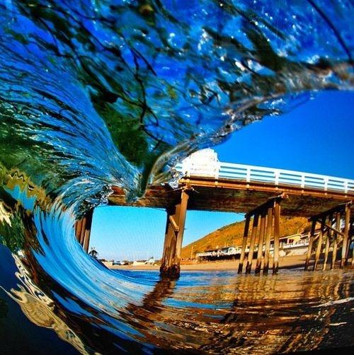 a água como vidro...