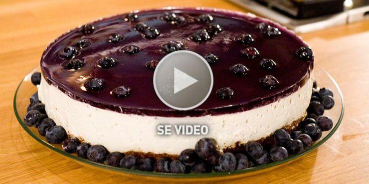 ostekake - oppskrift med video - Hvordan lage ostekake med gelelokk - Kaker
