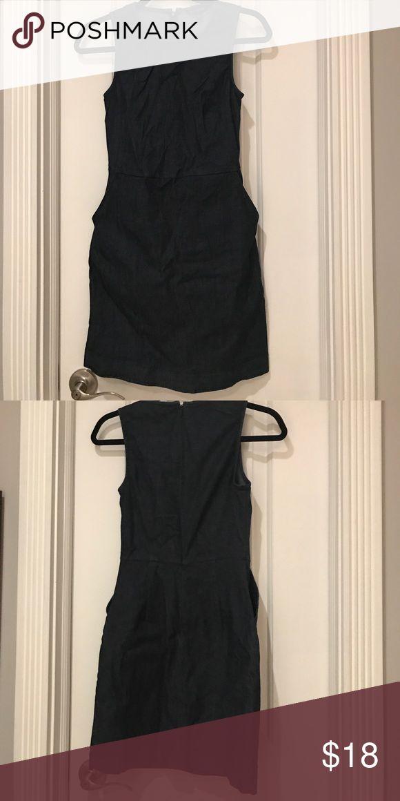 WORN ONCE! Banana republic denim dress. Size 0 WORN ONCE! Banana republic denim dress. Size 0. Cute for work work in summer! Banana Republic Dresses