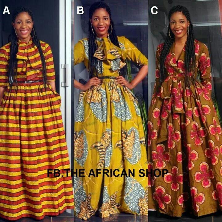 I love these 3 ankara maxi dresses Latest African Fashion, African Prints, African fashion styles, African clothing, Nigerian style, Ghanaian fashion, African women dresses, African Bags, African shoes, Nigerian fashion, Ankara, Aso okè, Kenté, brocade etc ~DK