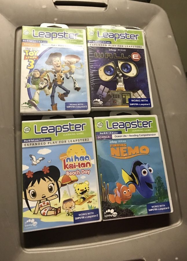 Leapfrog Leapster Learning Game Lot Of Four Leapster Leapfrog Learning Learning Games Pixar Toys Leap Frog
