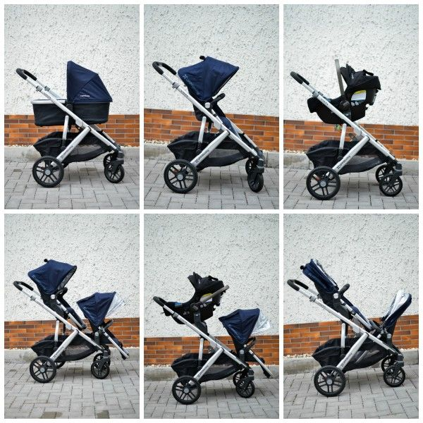 UPPAbaby Vista - great stroller for single or double.