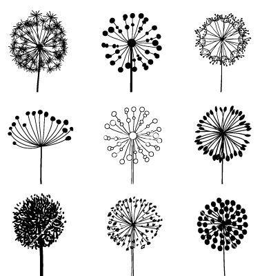 Set of dandelions vector by Greeek on VectorStock®