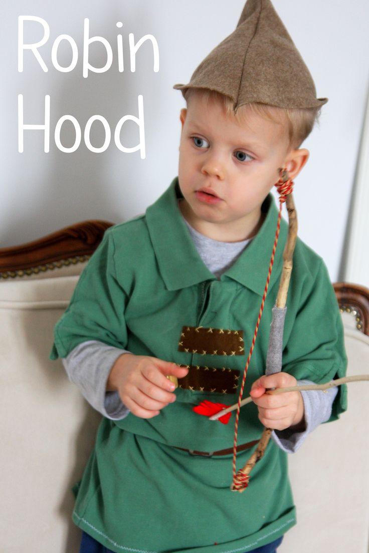 Robin Hood - kostium za zero zł ze starej koszulki taty; prosty projket do własnoręcznego wykonania. Low cost Robin Hood DIY costume.