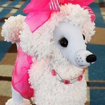 Пудель. Высота 25 см, длина 20 см. #кукла #текстильнаякукла #купитькуклу #продамкуклу #собака #друг #подарок #кукланазаказ