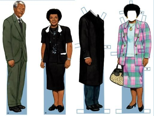 003 Nelson Mandela Dress Up Paper Doll by Dover Publications