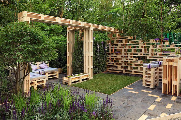 Проект выставочного сада из транспортных паллет | Проекты садов | Журнал «Дом и сад» ландшафтные дизайнеры Анна Лозинская и Анаит Акопян