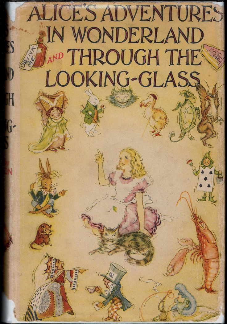 Alice in Wonderland. Year: #1939. Country: #UK. Illustrations: A H Watson. Additional Info: Collins Publishing printed edition. #book #cover #art
