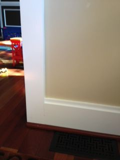 Craftsman door trim molding styles how to transition for Baseboard and door trim