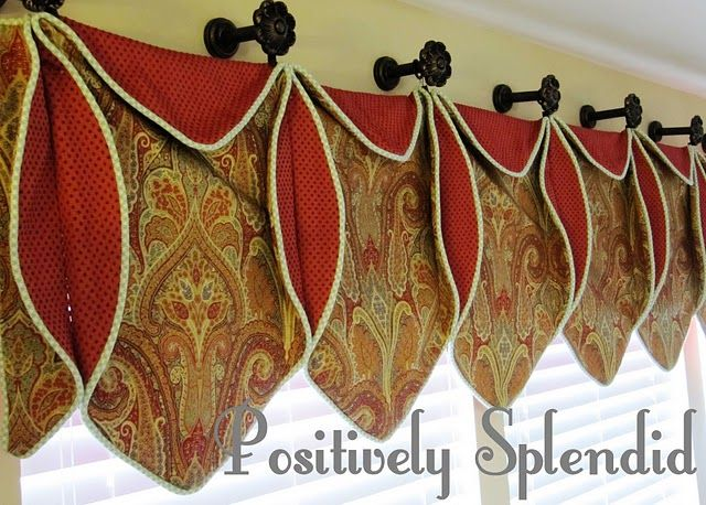 Love this design...think I'll use as topper of long drapes for my new house.