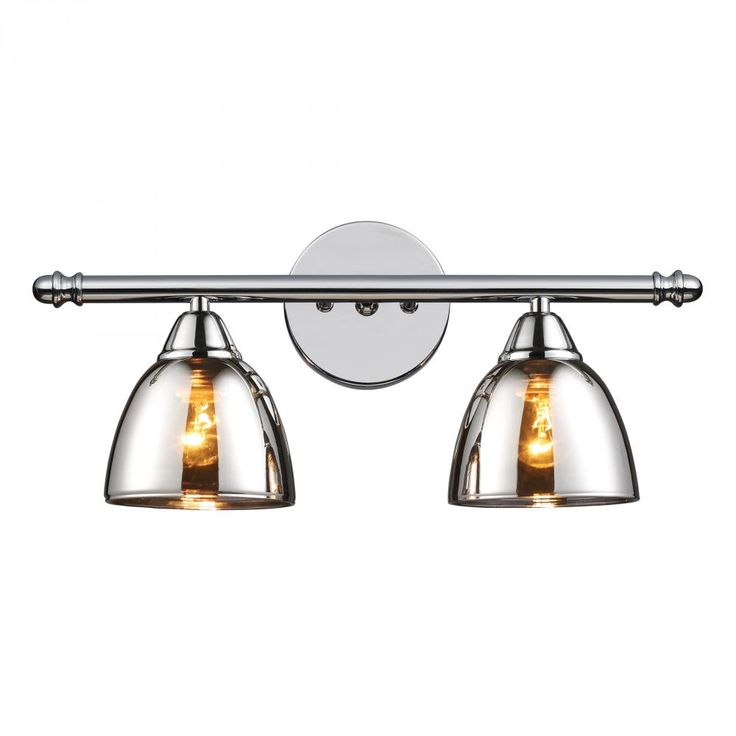 Elk Lighting Contemporary / Modern Two Light Down Lighting Wide Bathroom  Fixture From The Reflections Collection