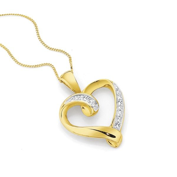 9ct Gold Diamond Heart Pendant | Angus & Coote