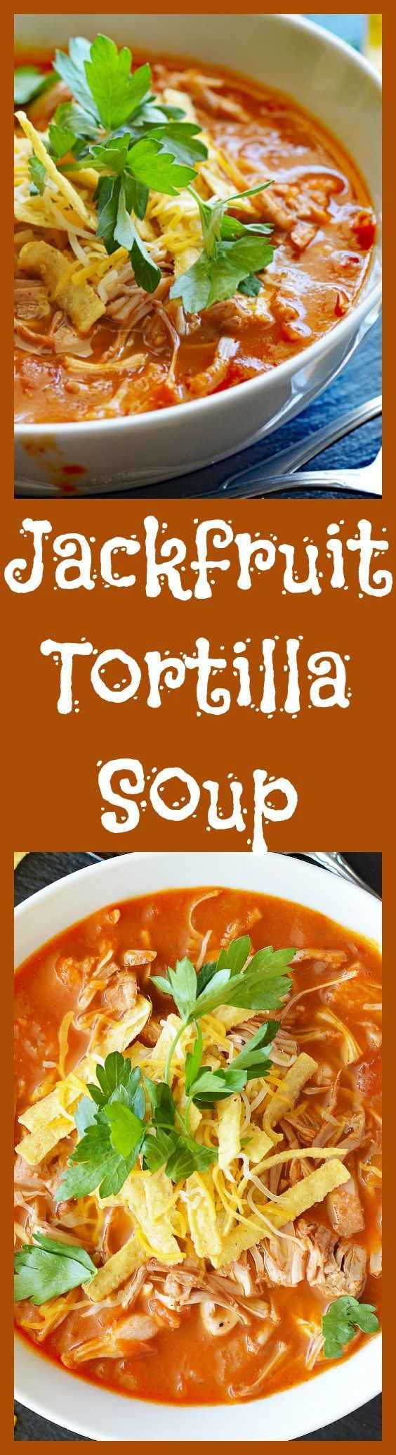 Homemade Jackfruit Tortilla Soup