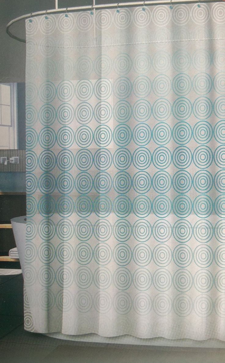 Amazon.com - Fade Geometric Sky Blue Vinyl Shower Curtain -