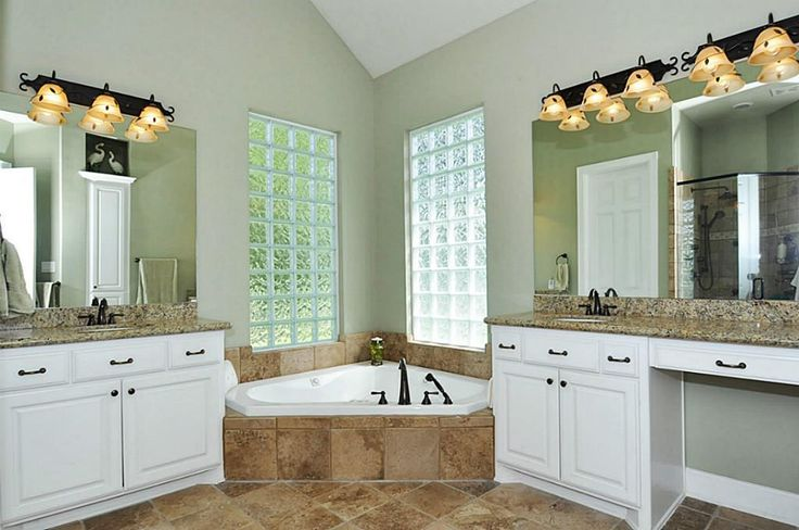 Wonderful Master Bath W Jacuzzi Tub And His And Hers Sinks House Things