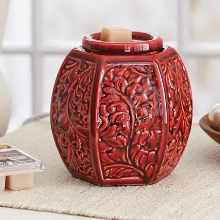 Better Homes And Gardens Full Size Wax Warmer Red Carved