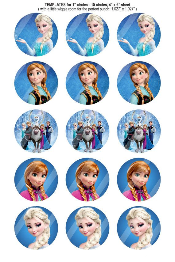 151 Digital Bottle Cap Images Disney Frozen by BeautifulDigitals, $0.99