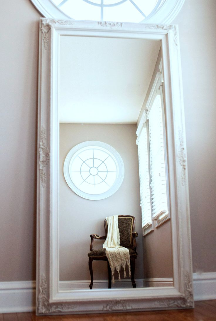 Best 25 leaning mirror ideas on pinterest floor mirror for Large white mirrors for sale