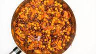 vegansk marokkansk bønnegryte med kikerter oppskrift