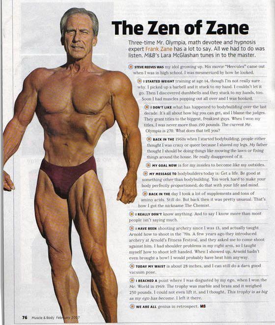 Frank Zane age 64