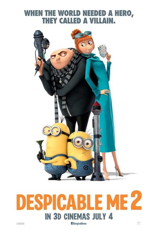 Despicable Me 2 Title: Despicable Me 2 Release Date: 03/07/2013 Genre: Animation Country: USA Voices: Steve Carrell, Russell Brand, Kristen Wig, Benjamin Bratt, Steve Coogan, Ken Jeong Miranda Cosgrove Director: Pierre Coffin Chris Renaud Studio: Illumination Entertainment Distribution: Universal Pictures