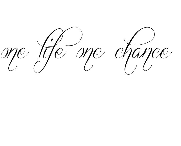 one life one chance Tattoo, my bf has this on his ribs with a rose for his mom. So beautiful!