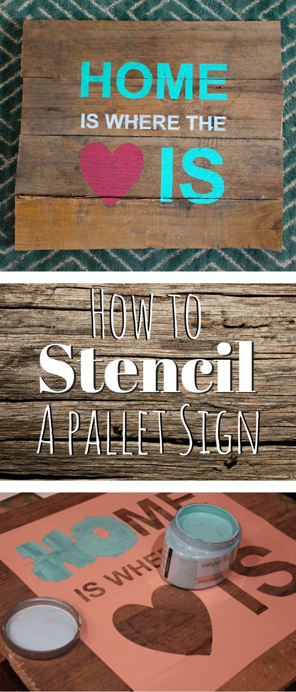 How to stencil a pallet sign. Easy diy project to design art for your home.