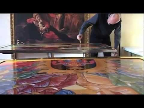 Gold on the icons with clay - 1 Preparation of the Armenian Bole - YouTube