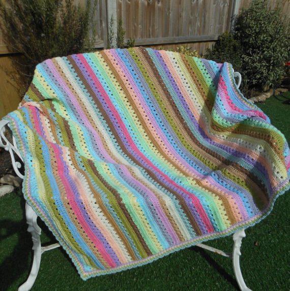 Large crochet blanket large throw blanket by DelightfulcraftsbyMG