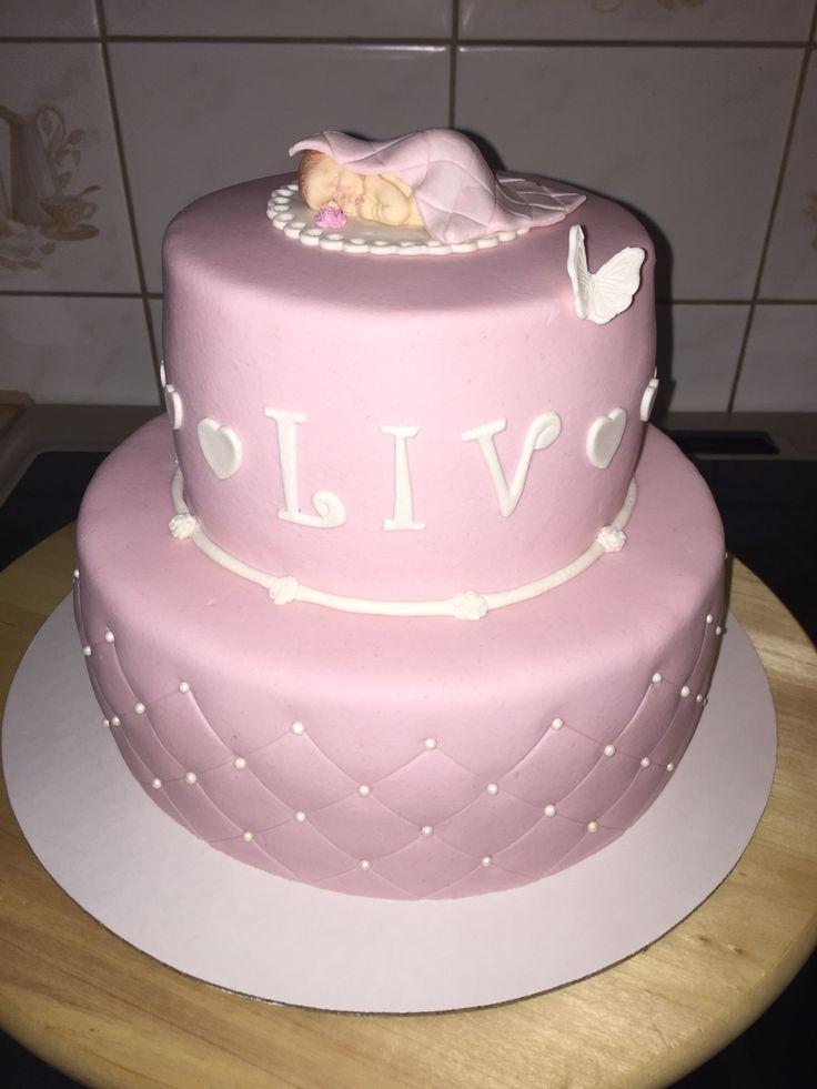 Christeningcake cake doptårta pink