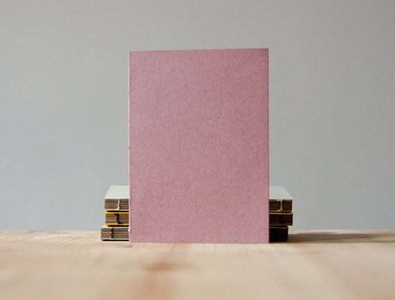Small Pink Paper Cover Coptic Stitch Notebook  by knotbooks
