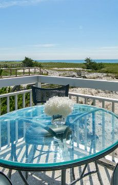 Sea views from the terrace at Westhampton Beach House, New York - make this your summer home!