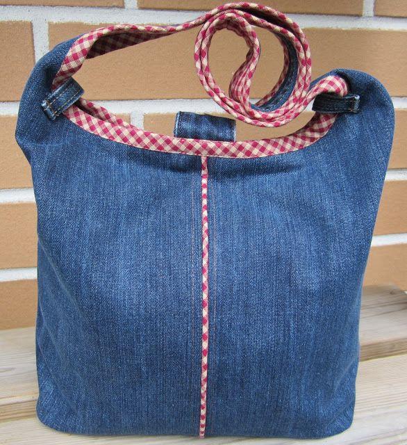 Lappeklipp: Jeans | Sy väska mönster, Jeansväska, Tygväska