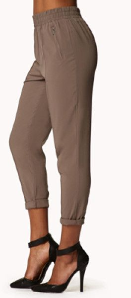 brown Jogger's Pants from Bebe -except mine have zippered pockets  Bing images