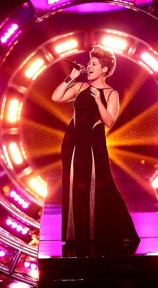Tessanne Chin of Team Adam Levine performs Monday night on The Voice. (NBC Photo)