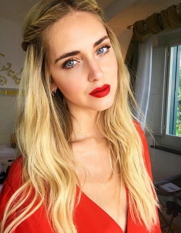Chiara Ferragni Red lip