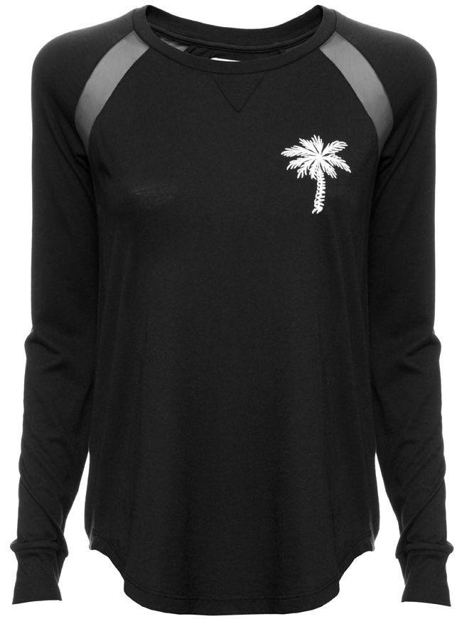 Palm Tree Long Sleeve Top - Pirate Black | ZOE KARSSEN | Designers | Buy online at Shop-Label.com