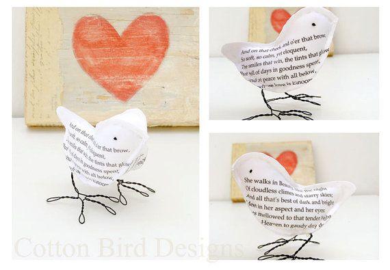"""Valentine Wife Poem Bird """"She Walks in Beauty"""" written by Lord Byron by CottonBirdDesigns"""
