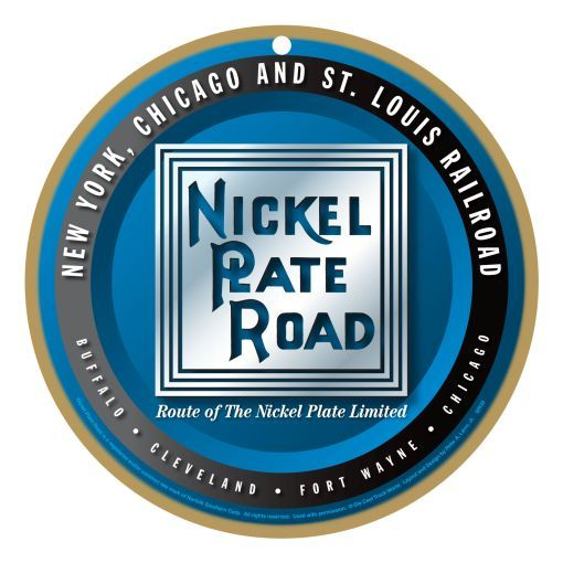 our nickel plate road logo plaque which features formally authorized nickel plate road symbol. Black Bedroom Furniture Sets. Home Design Ideas