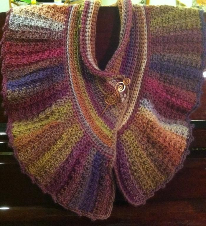 Harvest Shawlette by Merri Purdy | Crocheting Pattern - Looking for your next project? You're going to love Harvest Shawlette by designer Merri Purdy. - via @Craftsy