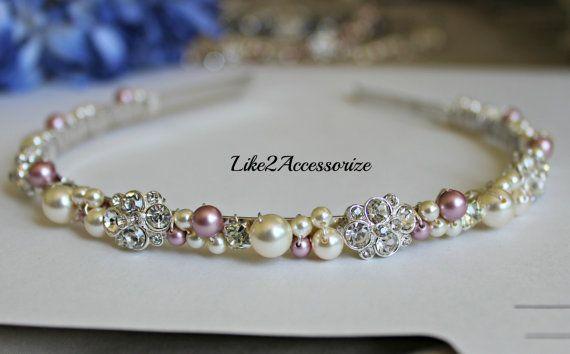 Bridal Pearl Headband Bridal Tiara Wedding by Like2Accessorize