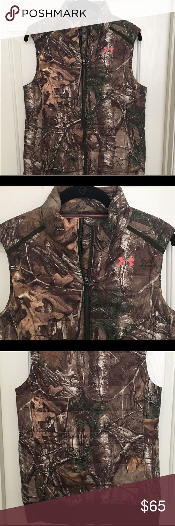 Under Armour Real Tree Vest Under Armour Real Tree camo vest. Absolutely love this vest, but after moving to a warmer place, it doesn't get any use. Longer cut, so it fits very well. It can be dressed up or dressed down. Under Armour Jackets & Coats Vests
