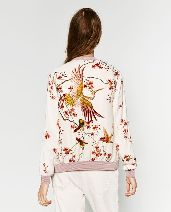 image 6 of printed bomber jacket from zara springspiration pinterest. Black Bedroom Furniture Sets. Home Design Ideas