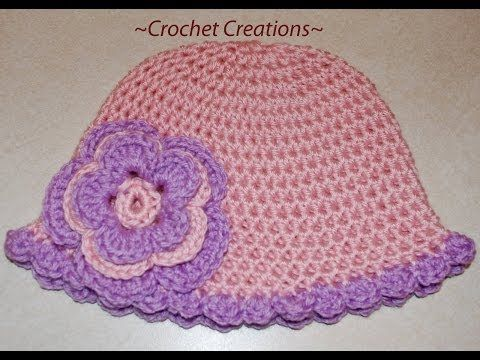 ▶ Crochet a Basic Hat Tutorial - Half Double Crochet - Newborn to Adult size Part I - YouTube