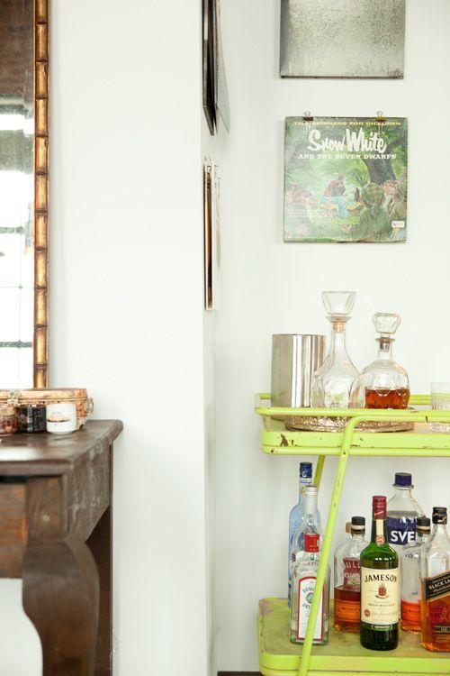 bar: Modern Interiors Design, Limes Bar, Dallas Texas, Drinks Carts, Home Interiors, Vintage Bar Carts, Green Vintage, Limes Green, Texas Home