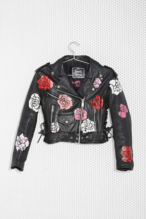Nasty Gal x Peggy Noland Hand-Painted Leather Jacket | Shop Clothes at Nasty Gal